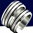 His Hers 2 pc Womens Engagement Stainless Steel & Mens Wedding Bridal Ring Set