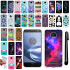 For Motorola Moto Z Force Droid Edition TPU SILICONE Protective Case Cover + Pen