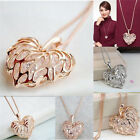 Fashion Women Gold Silver Heart Bib Statement Chain Pendant Necklace Jewelry New