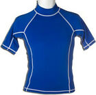 Adult Short Sleeve Rash Guard Swim Shirt Blue UV Protection M L XL 2XL