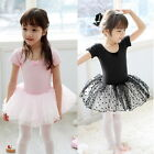 Girls Dancing Polka Dot Cotton Tutu Skirt Party Bow Knot Short Sleeve