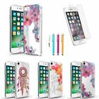 Ultra Thin Soft TPU Back Case Gel Cover + Pen + Clear Film For iPhone 7 / Plus