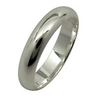 Sterling Silver Plain 4mm Band Wedding Engagement Ring 925 Jewelry All Sizes