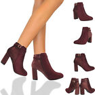 Ladies Fashion Crocodile Print Faux Leather High Heel Women Biker Boots Shoes UK