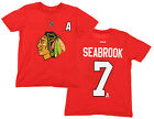 NHL Youth Chicago Blackhawks Brent Seabrook #7 Player Tee, Red