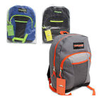 "Trailmaker Classic Boys Pocket Durable School 17"" Large Backpack Gray/Black/Blue"