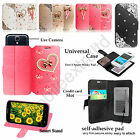 New 3D Diamond Glossy PU Leather Wallet Case Cover For Smart Phones (Universal)