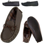 Lambland Mens / Womens Genuine Leather Moccasins with Hard Wearing Sole