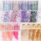 Box/10ml Nail Art Glitter Dust Powder Super Matte Mix10Colors Sequins Decoration
