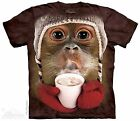 Orangutan Drinking Hot Cocoa Shirt, Small - 5X, funny, winter,   Mountain Brand
