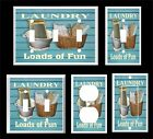 LAUNDRY LOADS OF FUN 2 WASH BOARD BASKET LIGHT SWITCH COVER PLATE