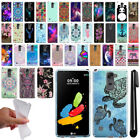 For LG Stylo 2 LS775/ Stylus 2 K520 / VS835 Design TPU SILICONE Case Cover + Pen