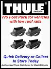 BRAND NEW THULE 775 FOOT PACK FOR VEHICLES WITH RAISED ROOF RAILS CAR 4X4 SUV