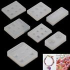 Silicone DIY Faceted Beads Earring Mold Jewellery Making Mould Resin Craft Tool