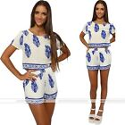 Blue Lady Summer Playsuit Bodycon Party Jumpsuit Romper Trousers Clubwear New