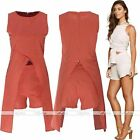 NewLady Sleeveless Clubwear Bodycon Crop Top + Short Pant Jumpsuit/Playsuit