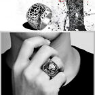 Rings Mysterious Church Titanium Steel Rings For Unisex Punk Rock Party Style