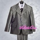 Boy 5pcs Formal Tux Suits Vest Outfit Wedding Birthday Party Kid Size 2T-7 #017A