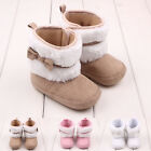 Baby Girl Bowknot Keep Warm Soft Sole Snow Boots Crib Shoes Toddler Boots