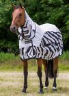 bucas Buzz-Off Full Neck Rain Zebra Fliegendecke Ekzemerdecke Fliegenschutz TOP