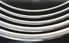 "Sterling Silver 925 Omega Chain Necklace High Polished 16"" 18"" 20"" 22"" 24"" Italy image"