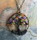Halloween Tree of Life Necklace,Autumn Halloween Tree of life Pendant   #002