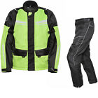 Agrius Columba Motorbike Touring Jacket & Hydra LONG Leg Trousers Hi-Vis Kit WP