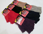 LADIES FINGERLESS GLOVE knit in WARM ACRIYLIC with SPANDEX in 6 COLOURS ONE SIZE