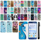 For Huawei Honor 8 Design PATTERN HARD Protector Back Case Phone Cover + Pen
