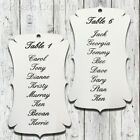 Personalised White Little Violin Wedding Seating Plan Tags