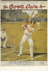 The Boys Own Paper 1921 Old Magazine Front Cover Cricket Advertising Postcard