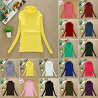 Winter Women Turtleneck Long Sleeve Jumper Stretch T-Shirt Bottoming Tops Blouse
