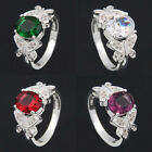 Women 925 Silver 4 Style topaz Ring Wedding Engagement Propose Jewelry U Select