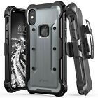 [vArmor] Rugged Holster Belt Clip Kickstand iPhone X XS Max XR TPU PC Cover Case