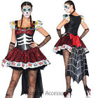 K233 Dia de los Muertos Day of Dead Senorita Skull Fancy Dress Halloween Costume