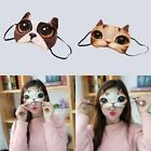 Blindfold Animal Cover Cotton Eye Mask 3D Cute Cat Lightproof Sleep Face Mask AB