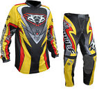 Wulf Attack Adult Motocross MX Off Road Jersey & Pants Yellow Adventure Kit Dirt