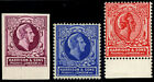 1911 HARRISONS 'DUMMY-STAMP' LABELS IN PAIRS, in three different colours (All U