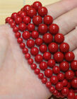 "red Shell Pearl Round Gemstone Beads 15.5"" 8mm 10mm 12m"