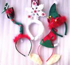 Christmas Day Works Party Fun Headband Elf Ears Flashing Snowflake Mistletoe Hat