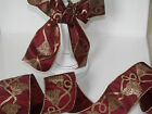 'A Tassle Royale' Burgundy Red & Gold Christmas - Luxury Wire Edged Ribbon LOW