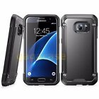 Black/Black Samsung Galaxy S7/ S7 Edge Hybrid Rubber Shockproof Case Cover