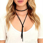 Fashion Charm Bohemia  Black Leather Braided Choker Necklace Jewelry Chunky New