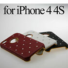 Bling Shiny Crystal Diamond Rhinestone Case Cover Glass SP For iPhone4 4G 4S 4th