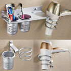 Spiral Blow Hair Dryer Stand Holder Wall Mounted Holder Rack Organizer Bathroom