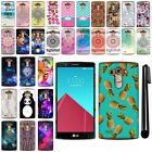 For LG G4 H815 F500 VS986 H810 PATTERN HARD Protector Back Case Cover + Pen