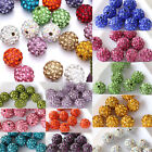 20 Pcs Czech Crystal Rhinestones Pave Clay Round Disco Ball Spacer Bead 10mm