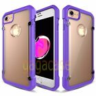 Purple/Frost Apple iPhone 7 &7 Plus High-End Hybrid Rubber Shockproof Case Cover