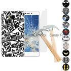 For Elephone P9000 Lite 2X Tempered Glass Film Soft TPU Cover Case Batman Mask