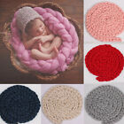 Infant Newborn Clothes Baby Unisex Handmade Braided Wrapped Blanket Photo Props